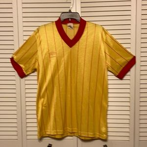 Vintage Umbro Stripe V Neck Jersey Size X-Large
